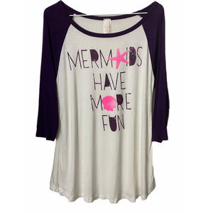 5/$25 LOVELY SOULS Mermaids Have More Fun T-shirt